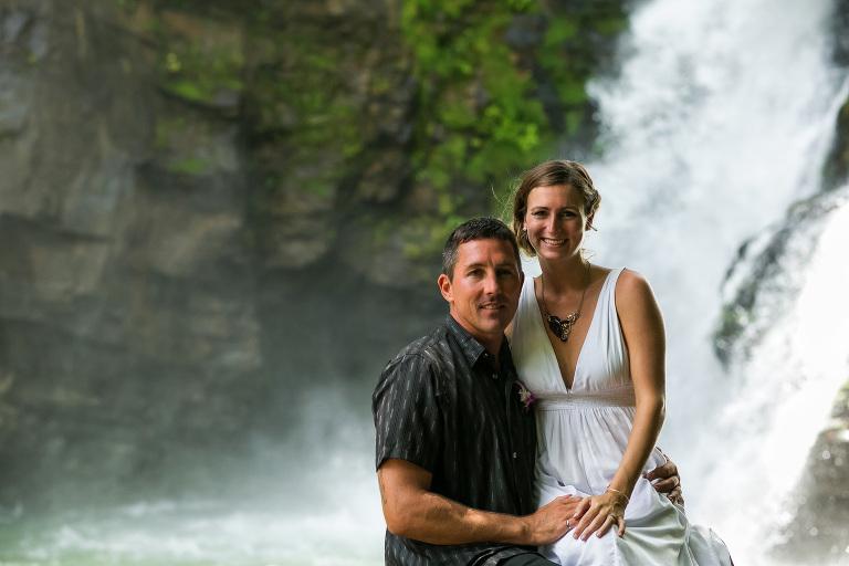 Wedding at Nauyaca Waterfalls, Costa Rica