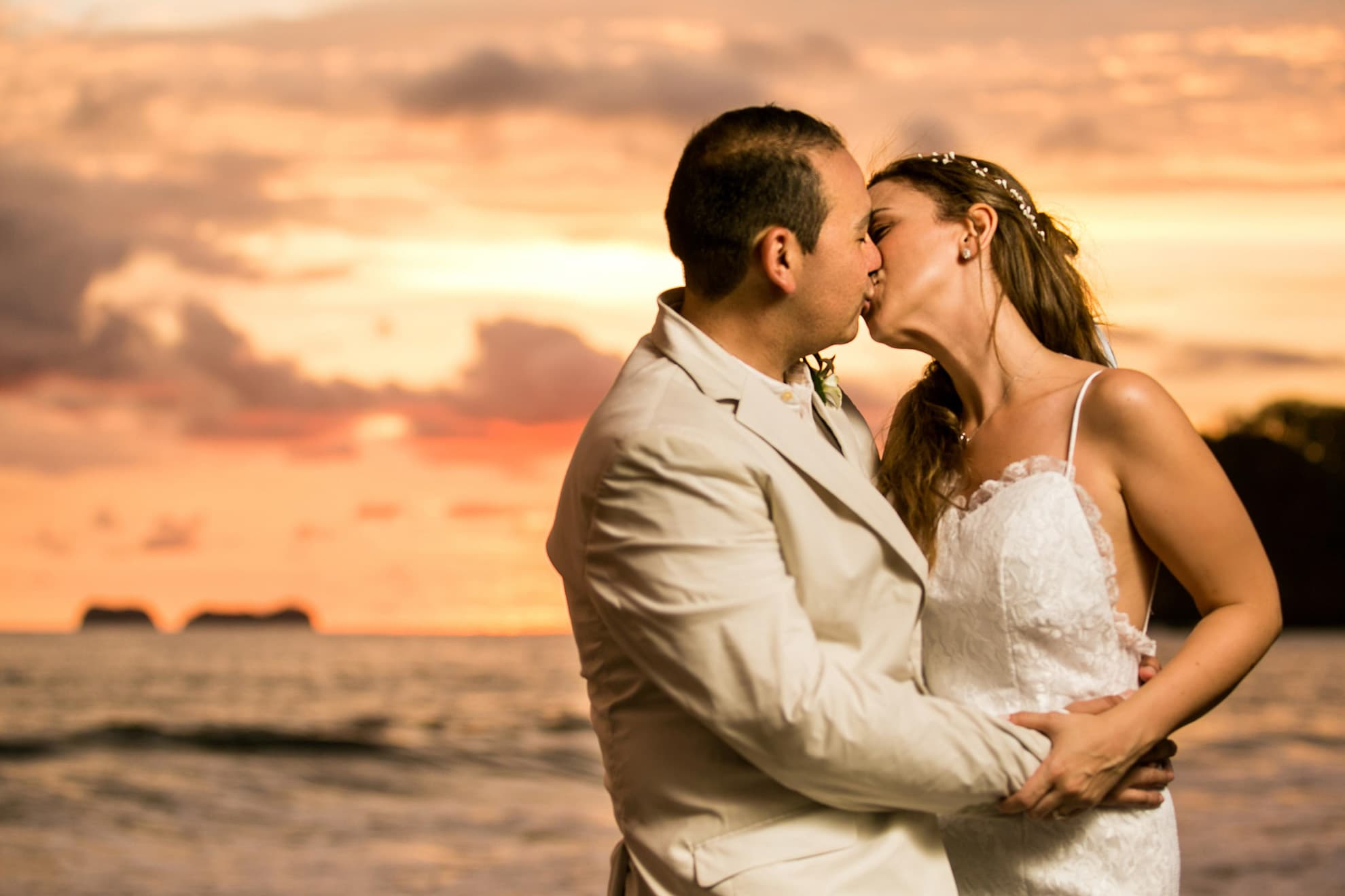 A kiss with the Costa Rican Sunset