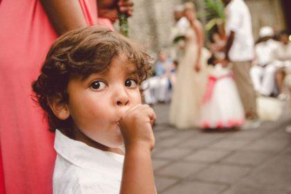 Boy at wedding at Villas Caletas