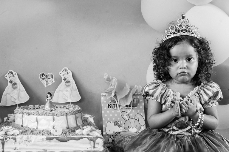 girl with birthday cake.