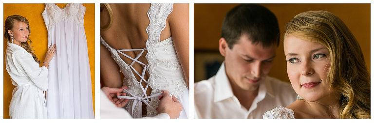 Wedding preparations in Villas Caletas