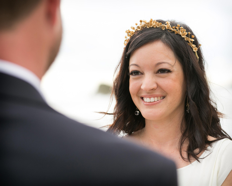 Bride at wedding in Manuel Antonio