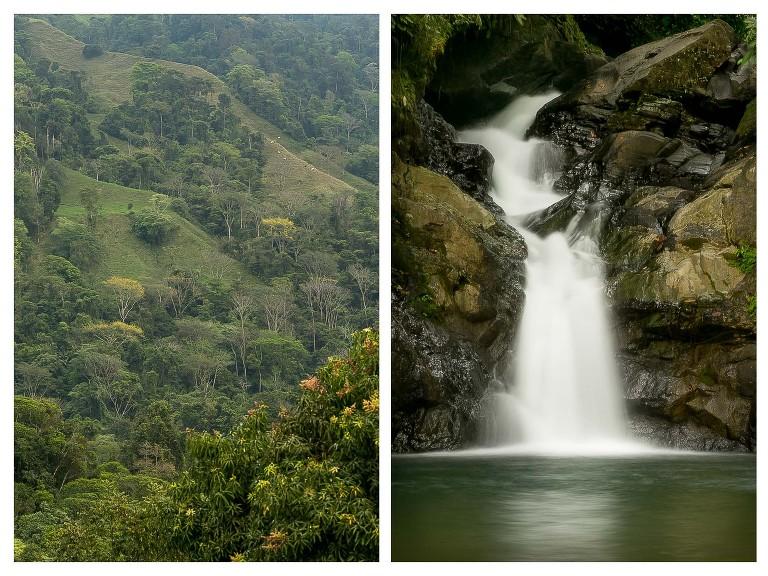 Waterfall at Santa Juana Lodge