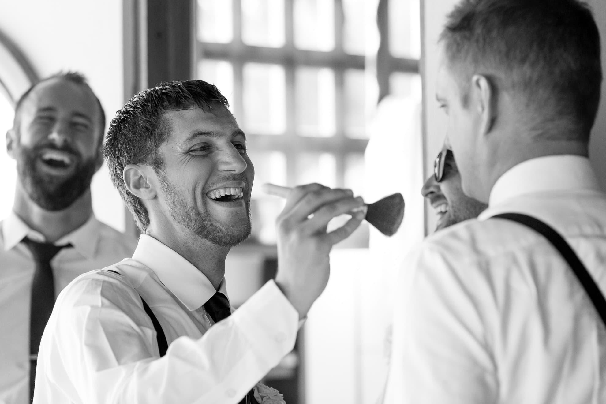 Groomsman before wedding