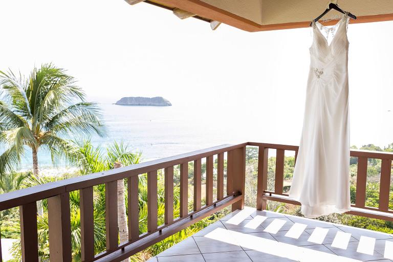 Wedding dress at Costa Verde