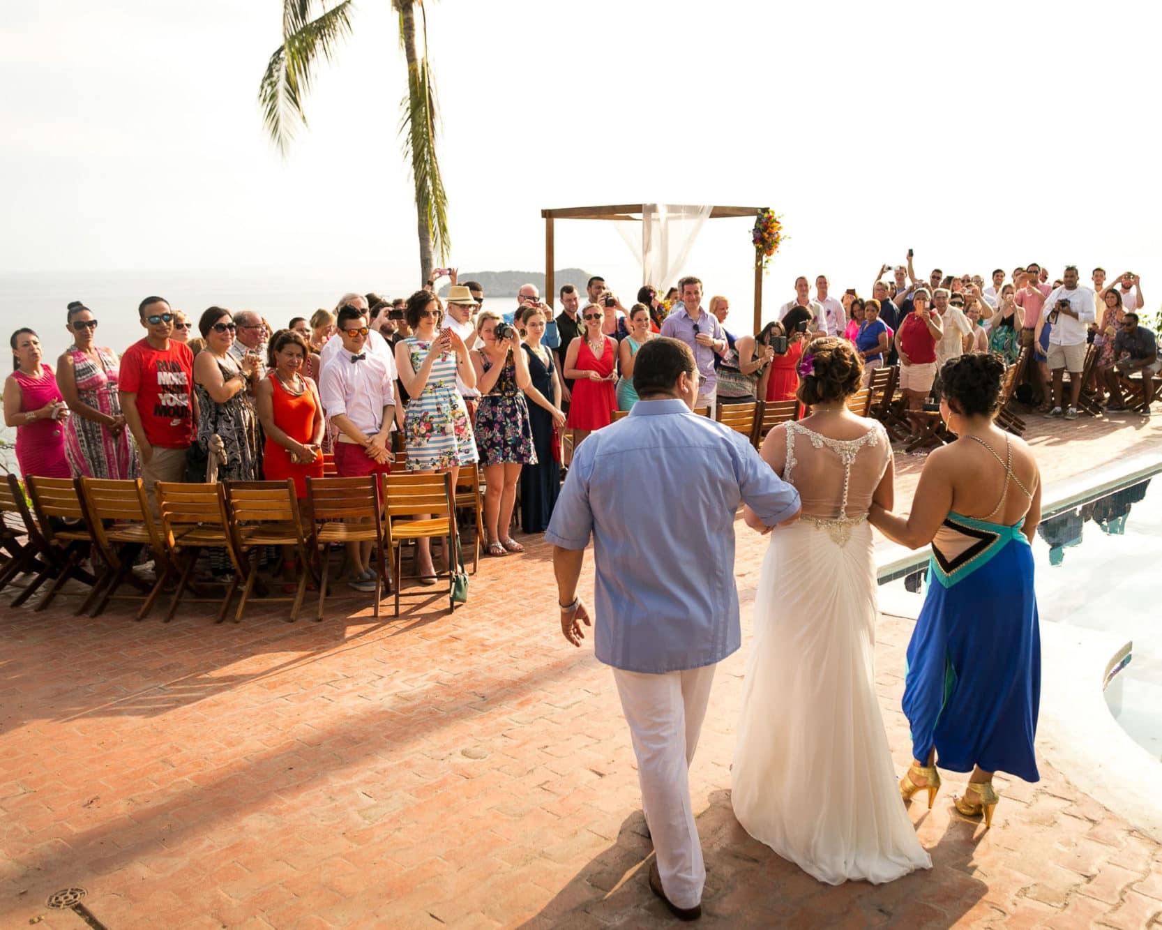 Bride's walk at wedding