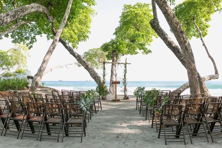 Wedding ceremony on the beach in Costa Rica