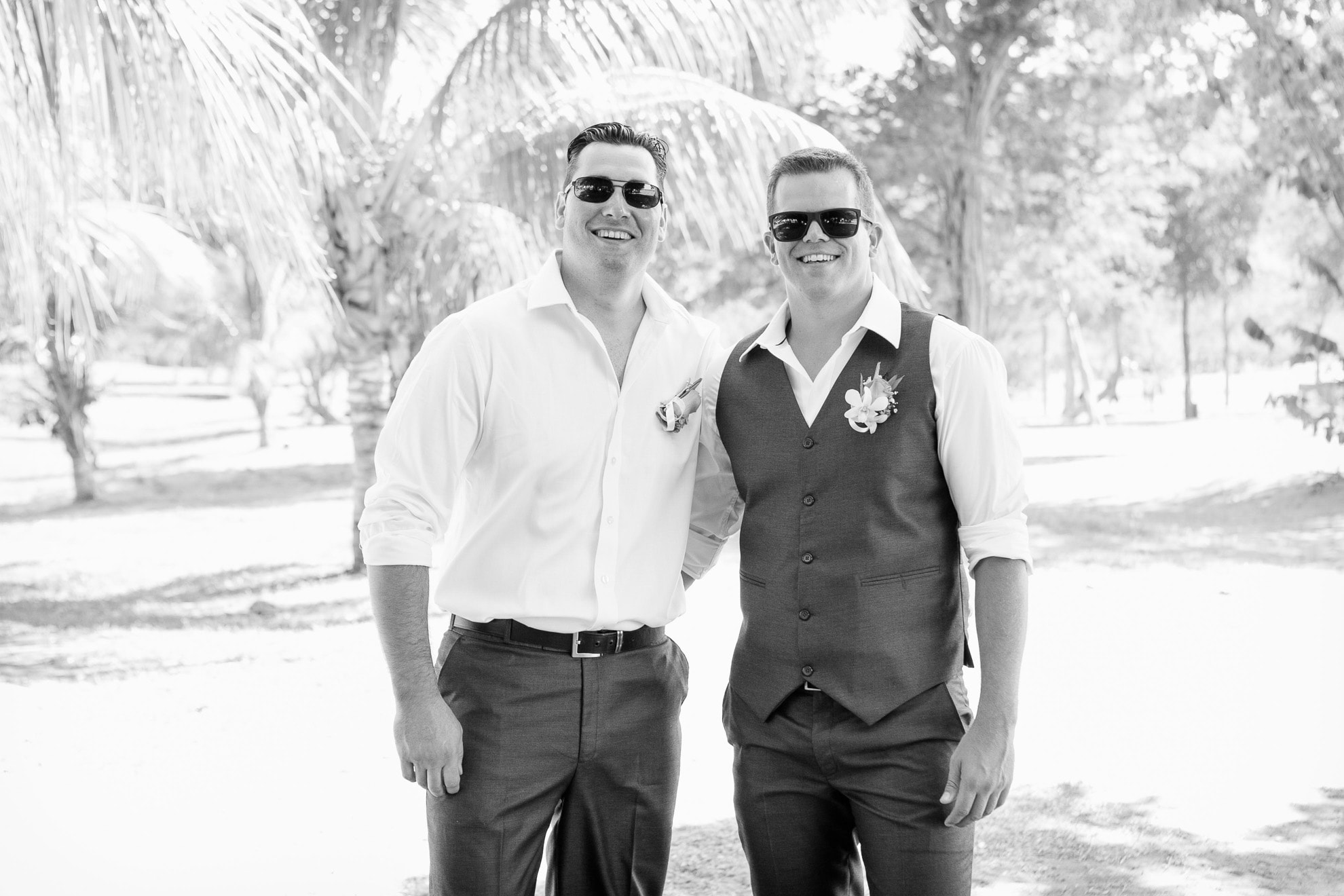 Groom and best man at Costa Rica all inclusive wedding in Guanacaste