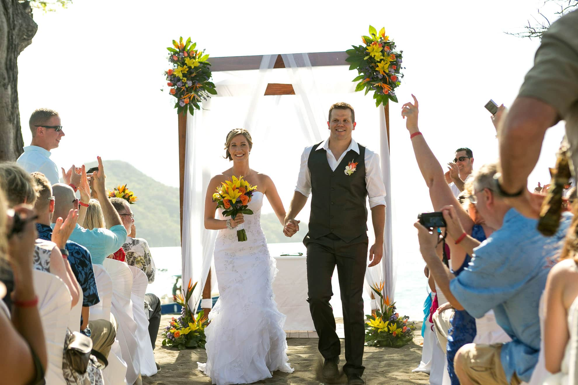 Costa Rica all inclusive wedding ceremony at Riu Guanacaste