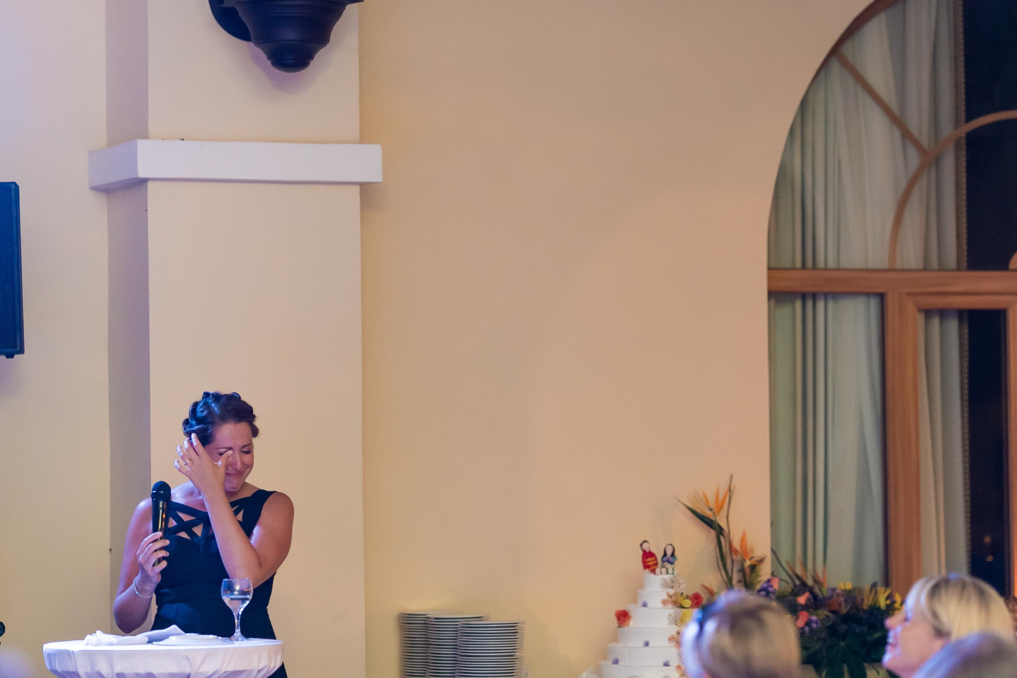 Maid of Honor cries at wedding