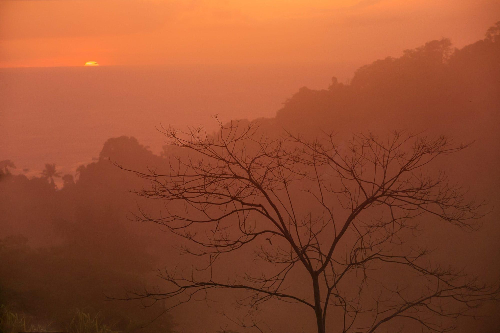 Sunset in Rainy Season in Costa Rica