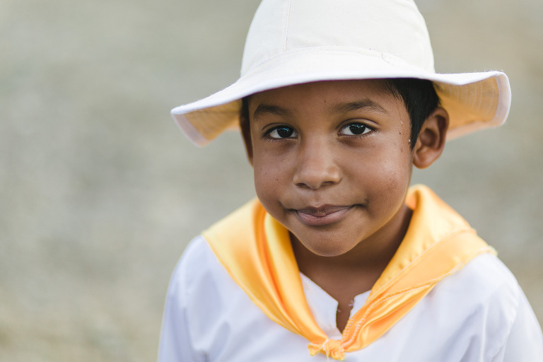 Boy in traditional outfit in Costa Rica