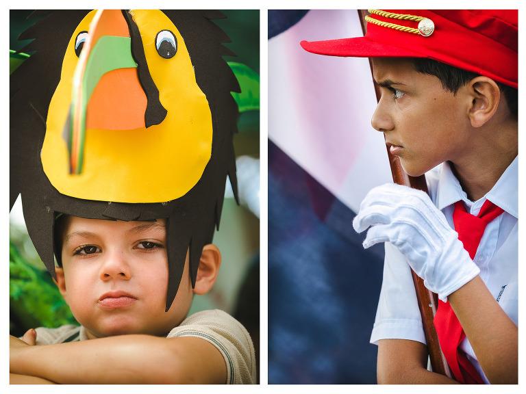 Kids in parade in Costa Rica