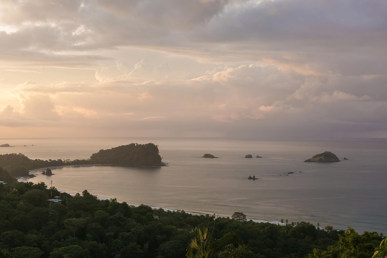 From outdoor wedding venues you get views like this sunrise in Manuel Antonio