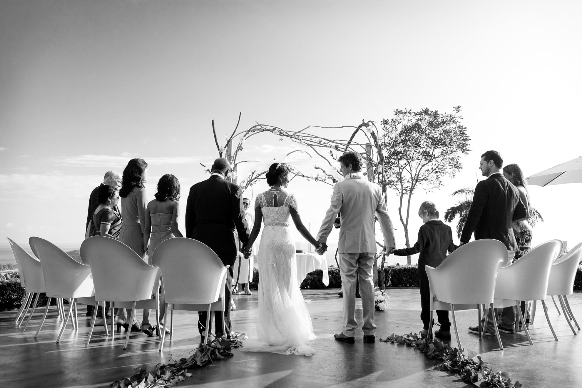 Wedding ceremony at Mariposa Hotel, a crown jewel of outdoor wedding venues