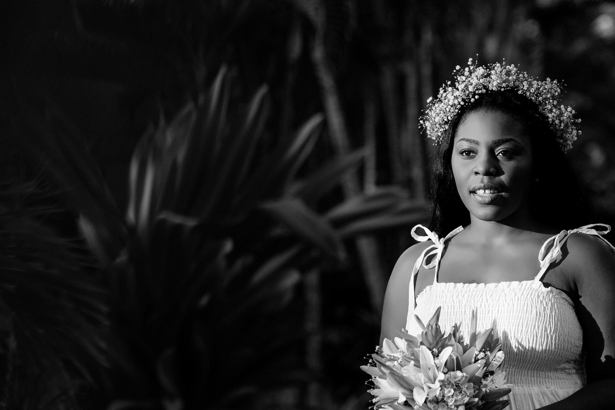 Bride walking down aisle.