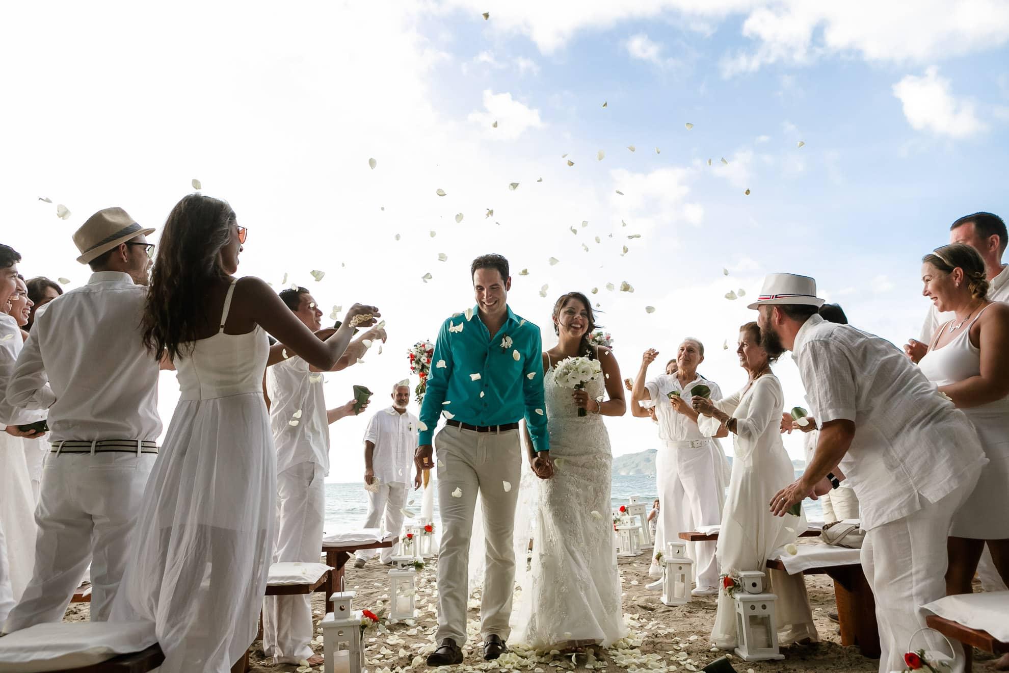 Wedding celebration at Langosta Beach Club.