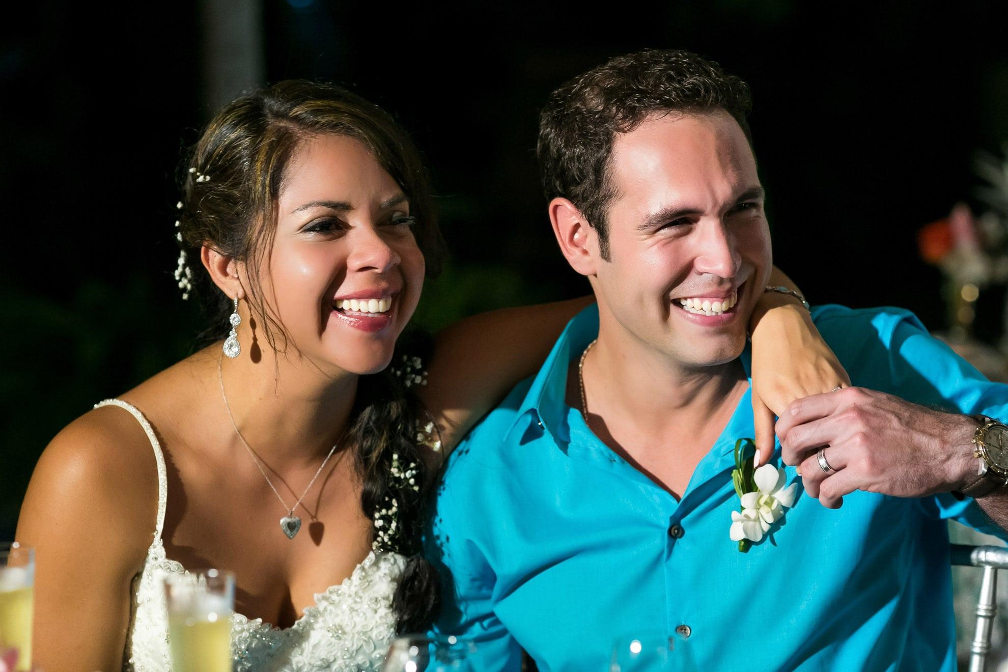 Speeches at wedding ceremony.
