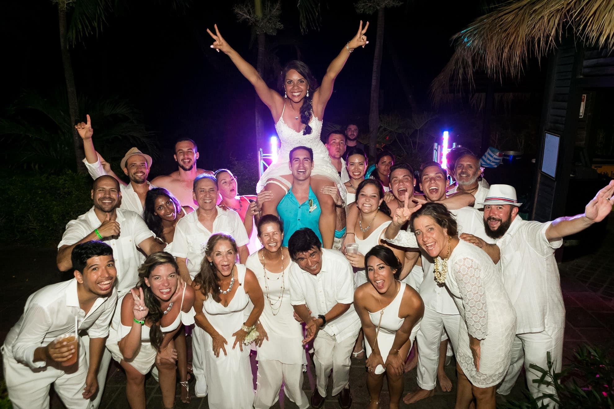 Wedding reception in Costa Rica.