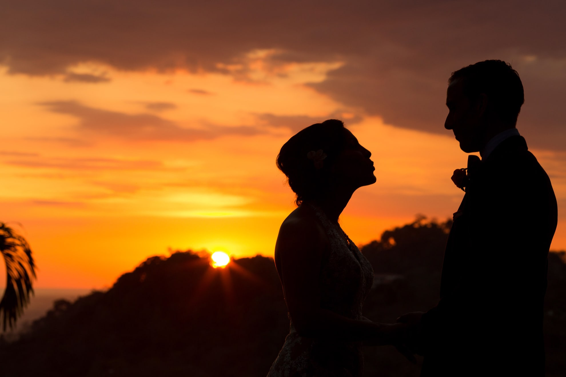 Silhouette photo at wedding