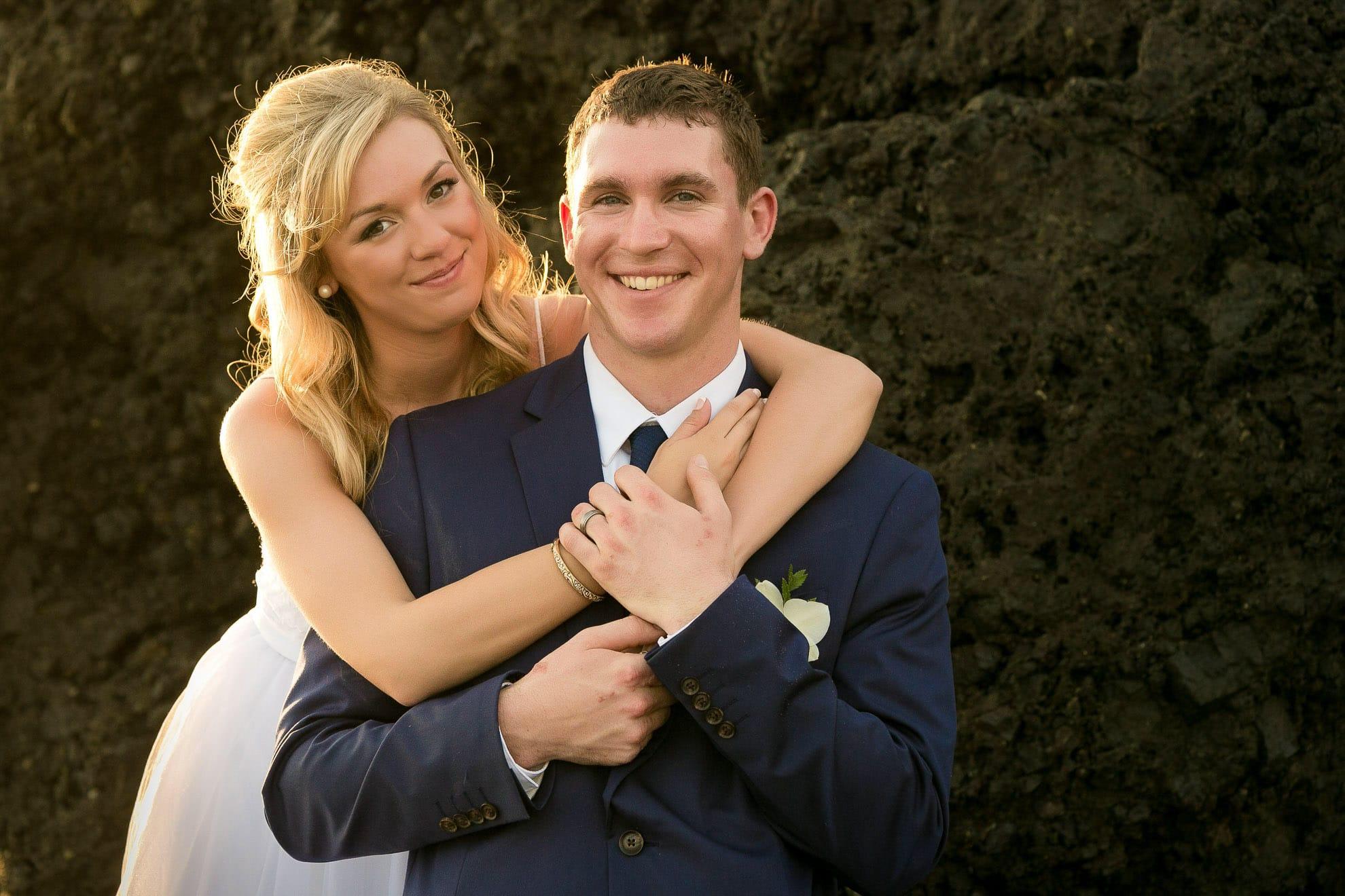 Golden light at wedding