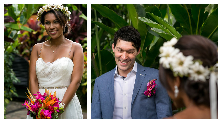 First look at wedding in Arenal