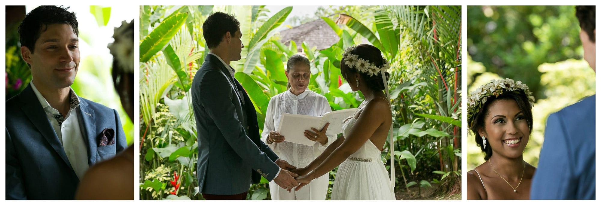 Wedding ceremony at Nayara