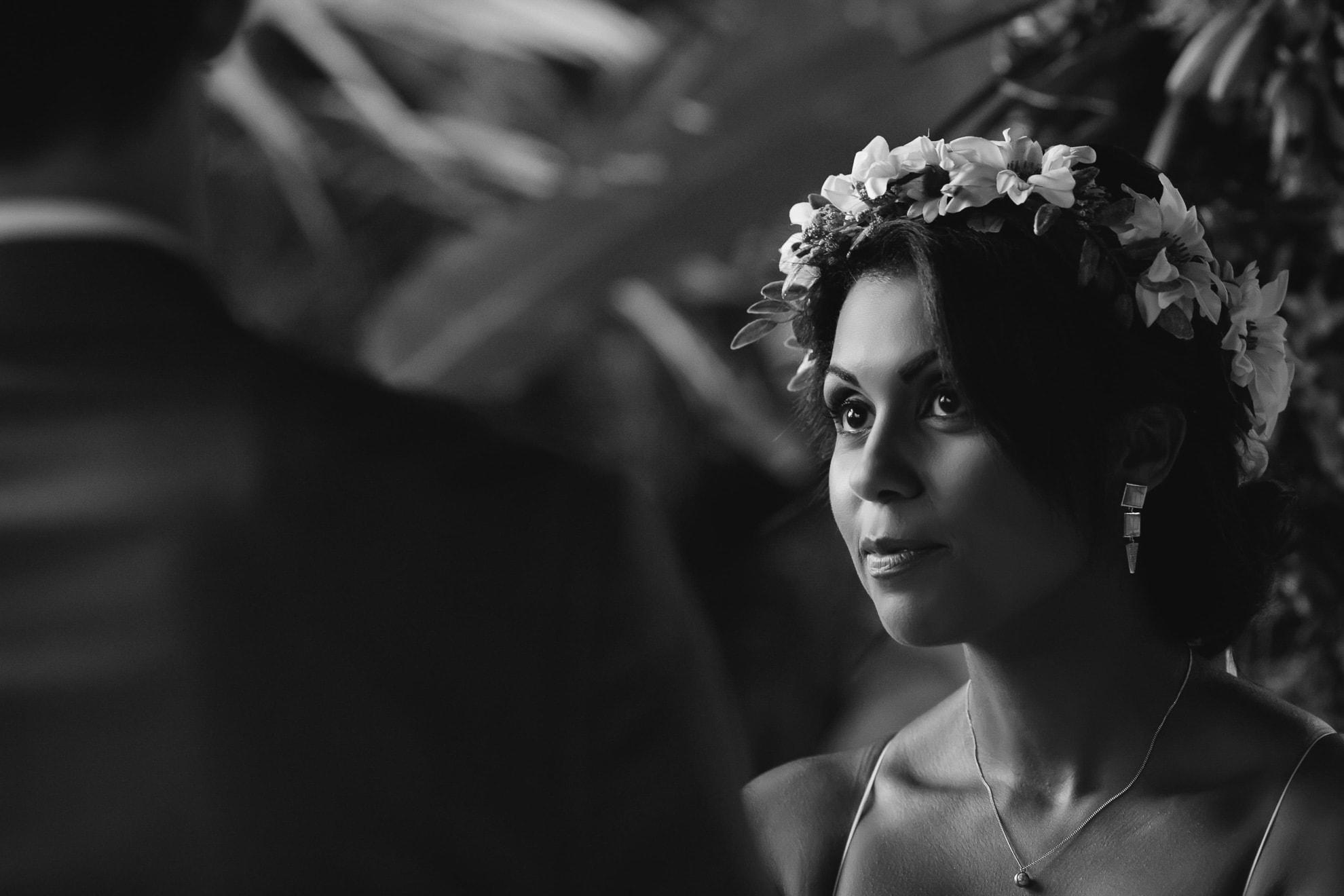 Bride at wedding at Nayara