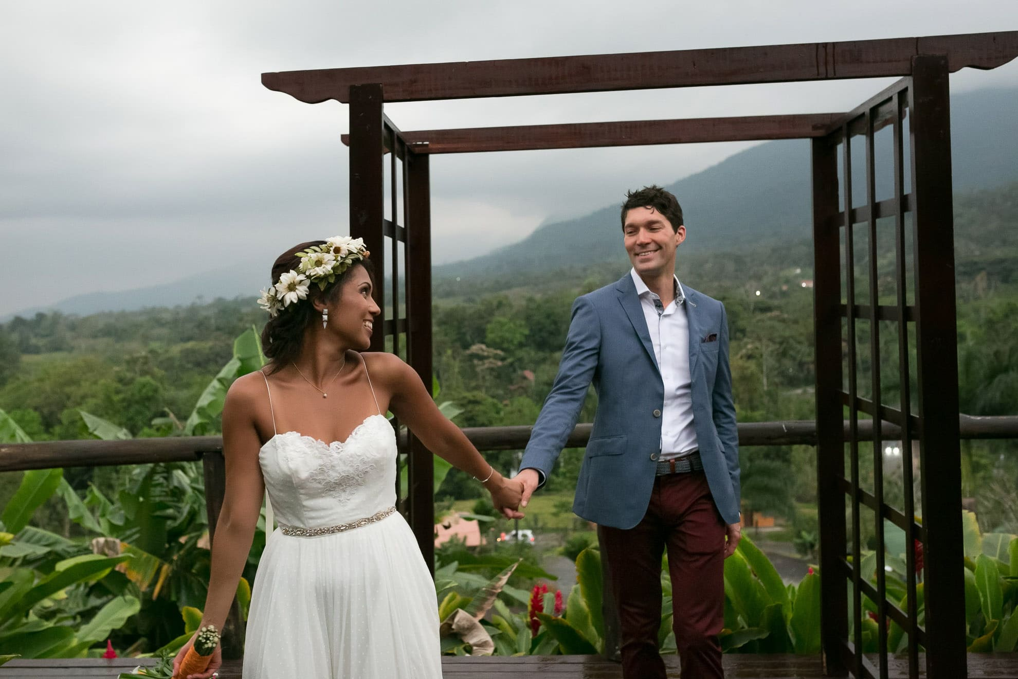 portraits after the volcano wedding ceremony