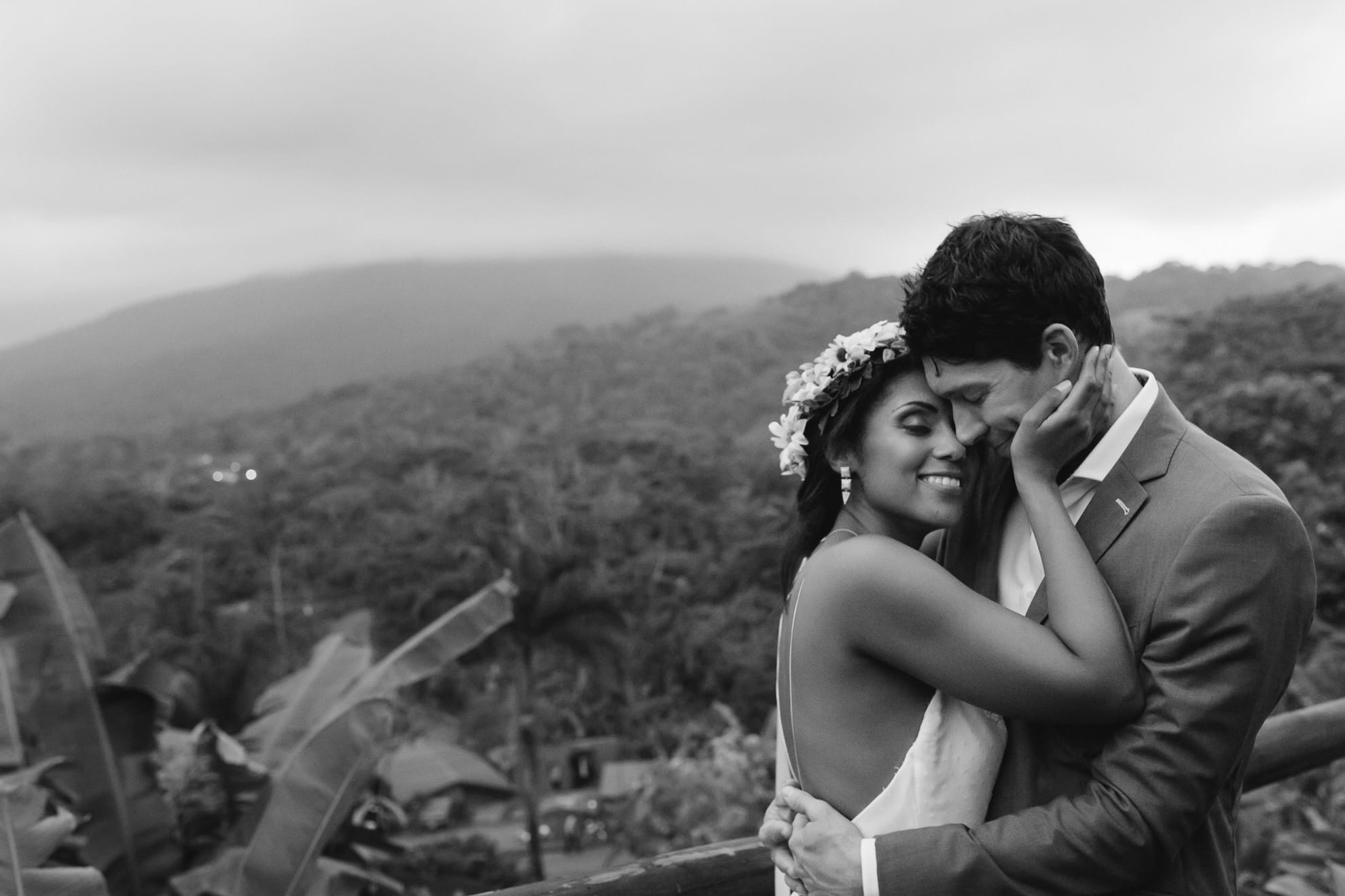 portraits after the volcano wedding ceremony in Arenal Costa Rica
