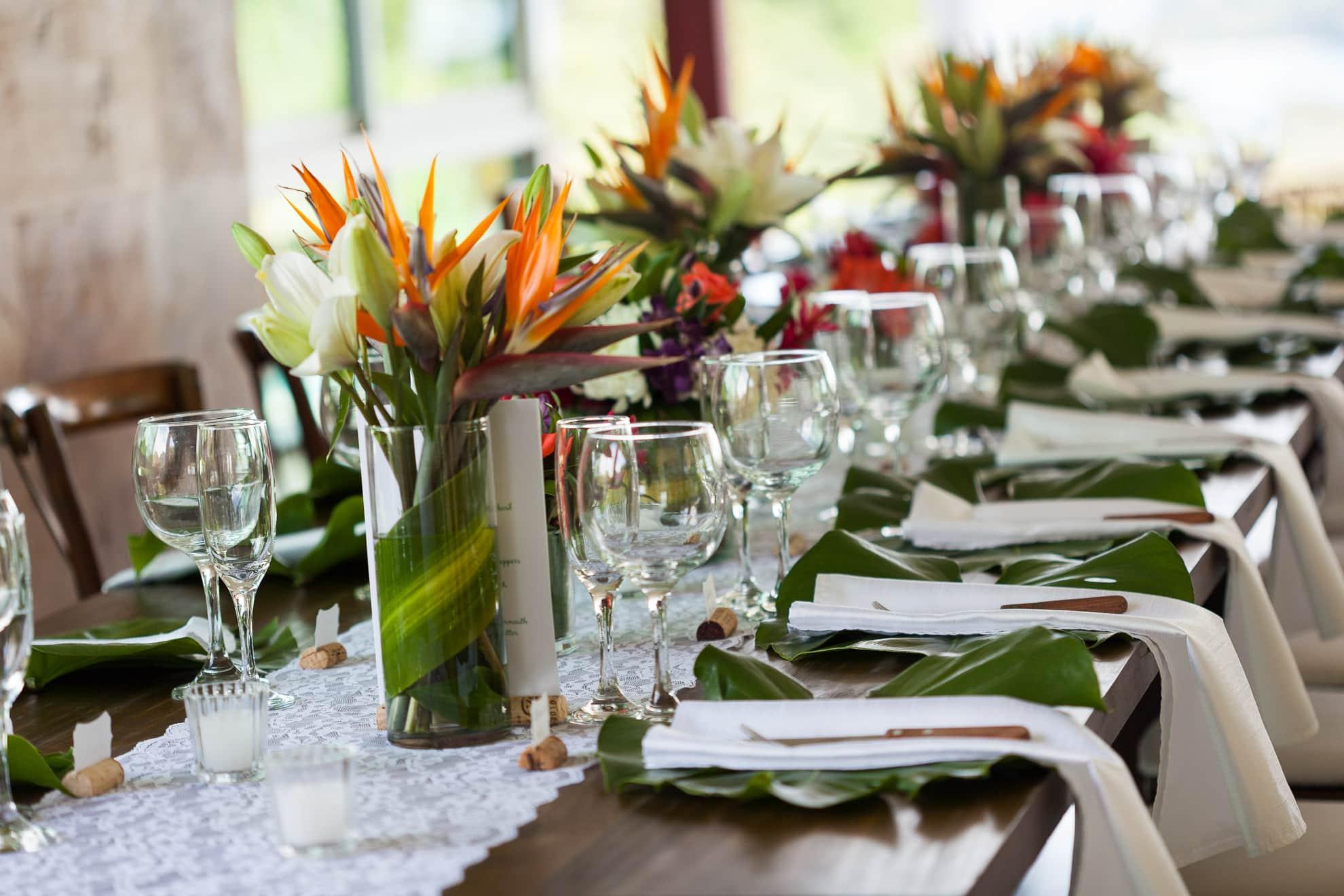 Natural Decorations at Wedding