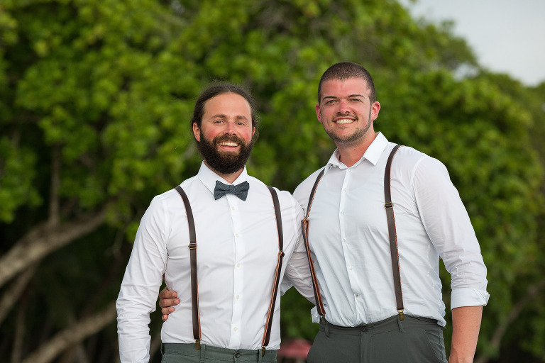 Groom with Brother in Manuel Antonio