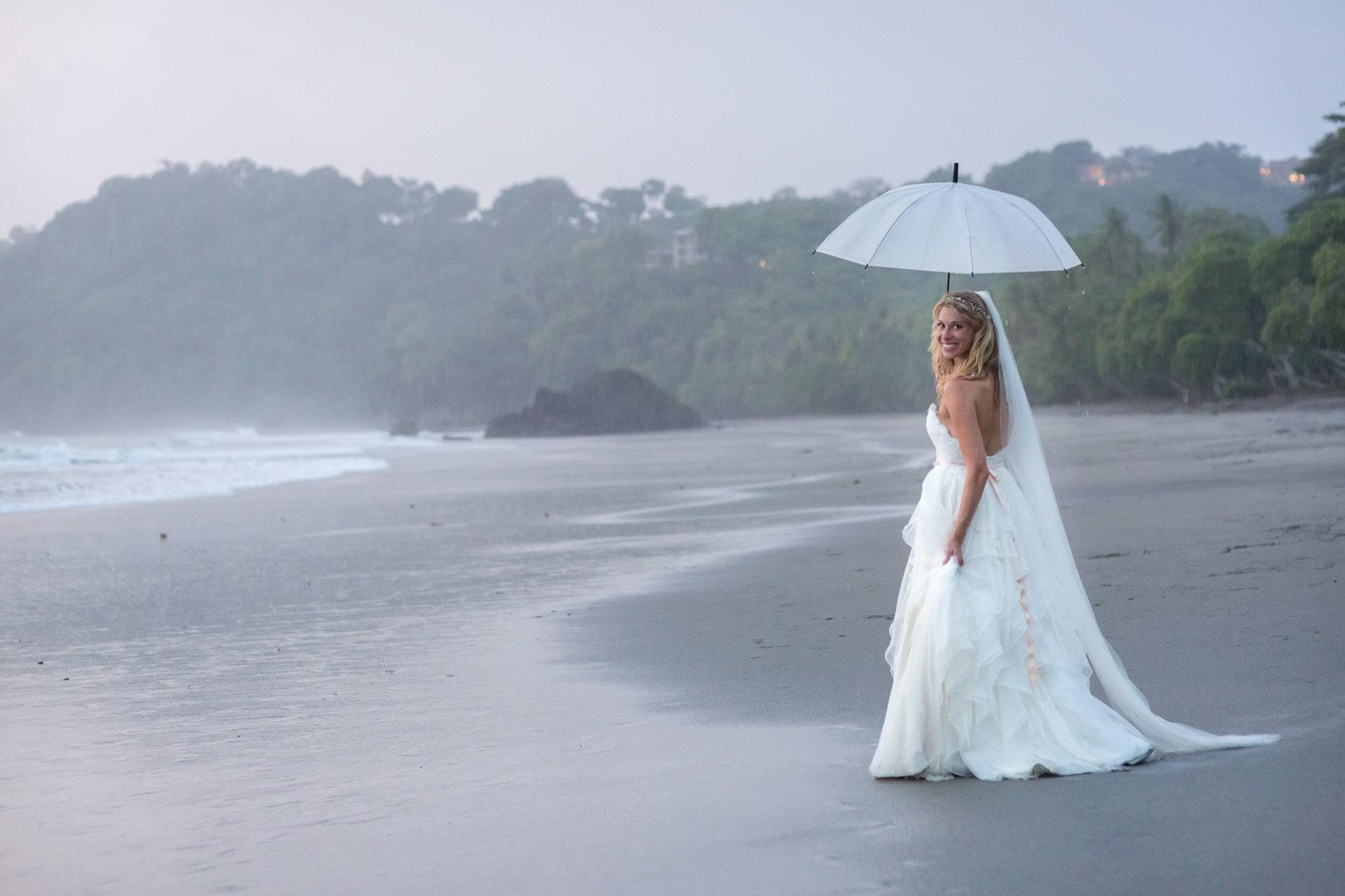 Rain at wedding