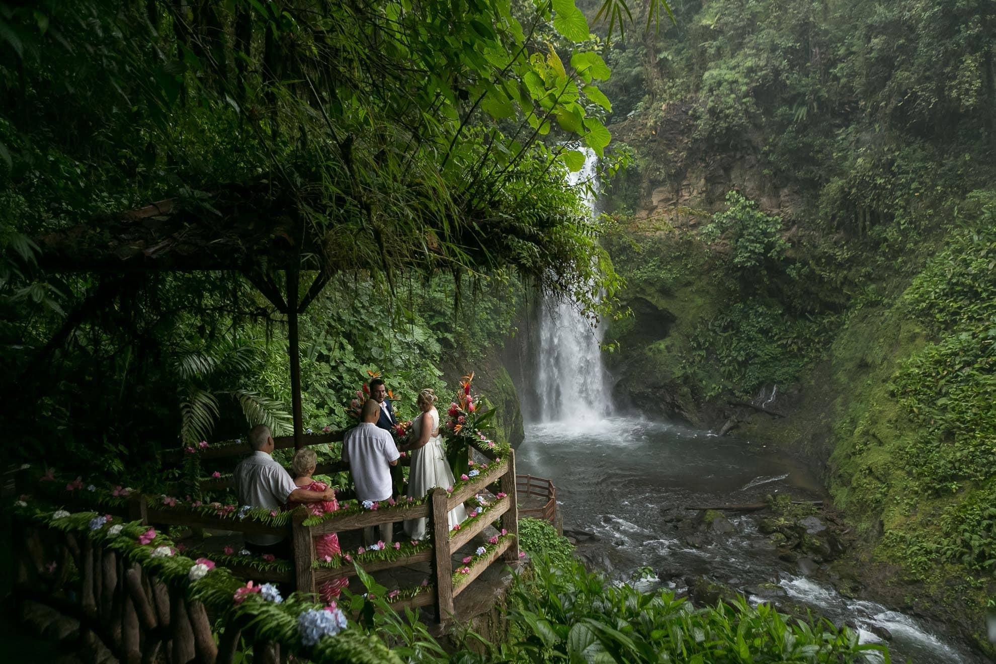 Waterfall Wedding in Costa Rica