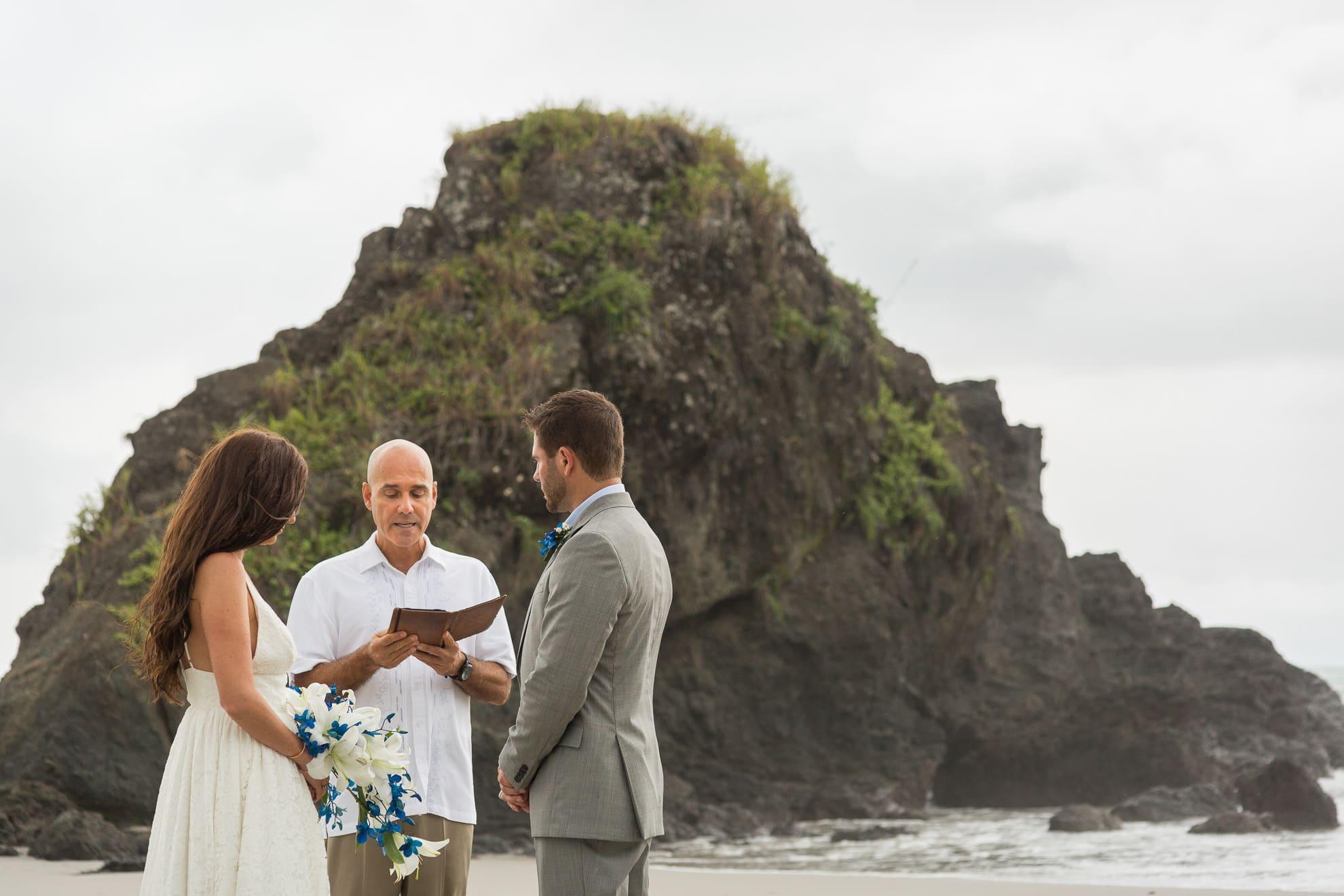Small wedding in Costa Rica