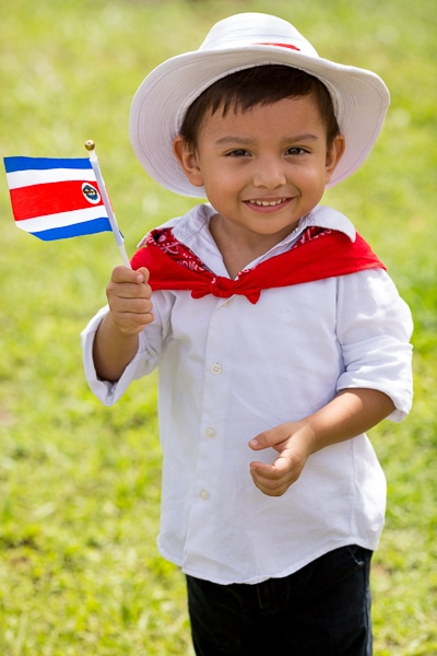 Boy at Costa Rica Parade