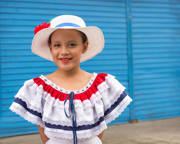 Girl at parade in Costa Rica