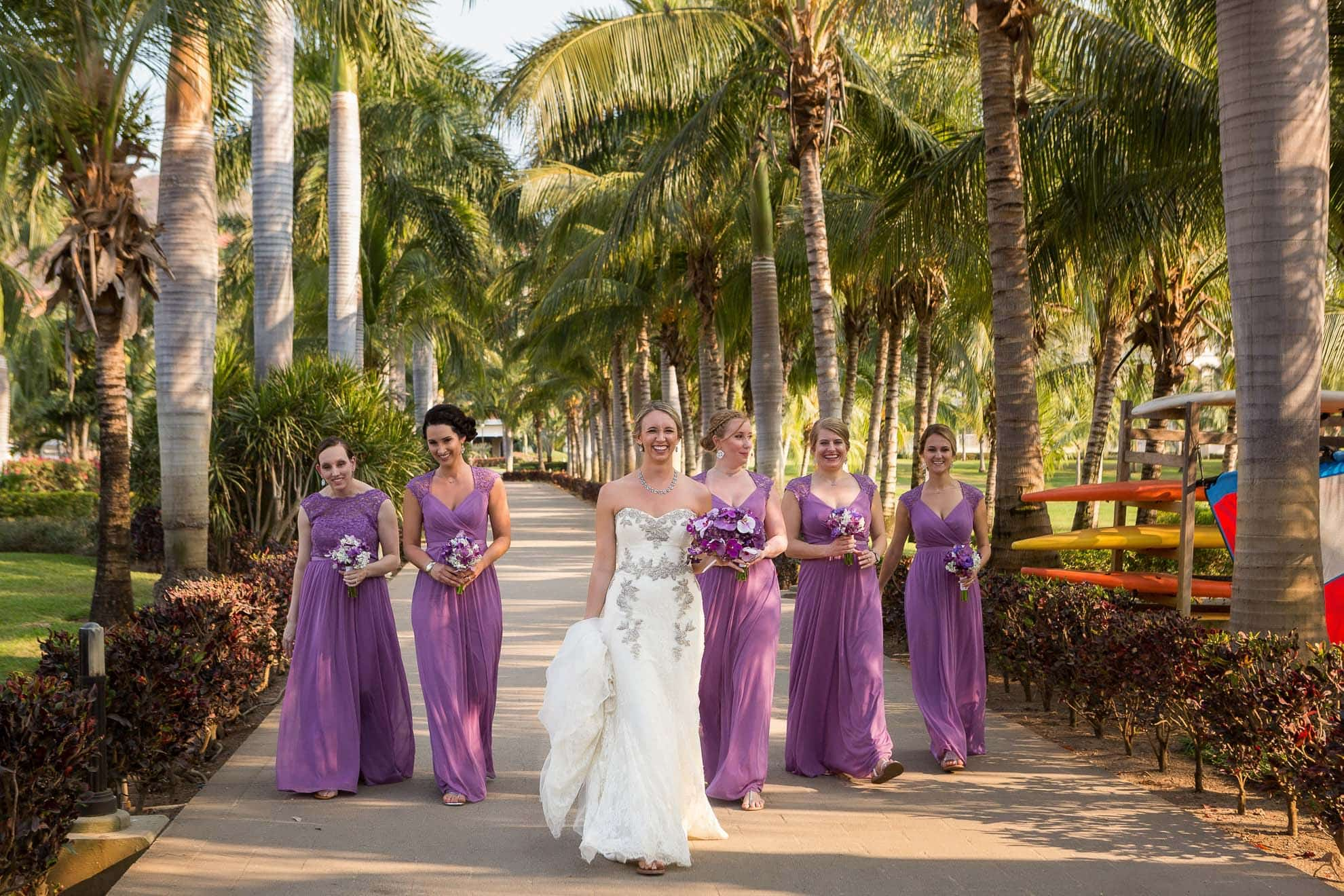 Bride and Bride's maids at hotel riu palace
