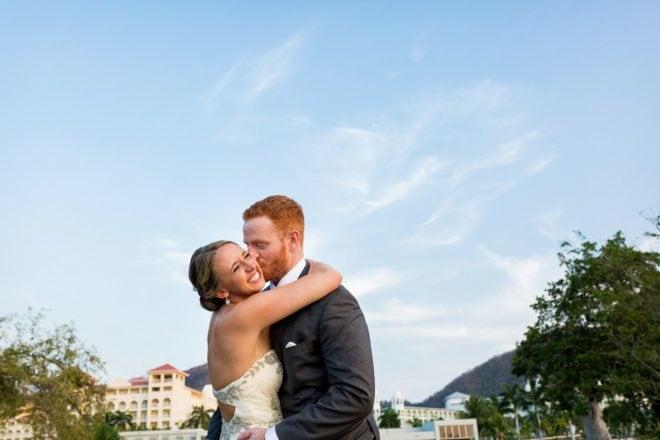 bride and groom riu palace