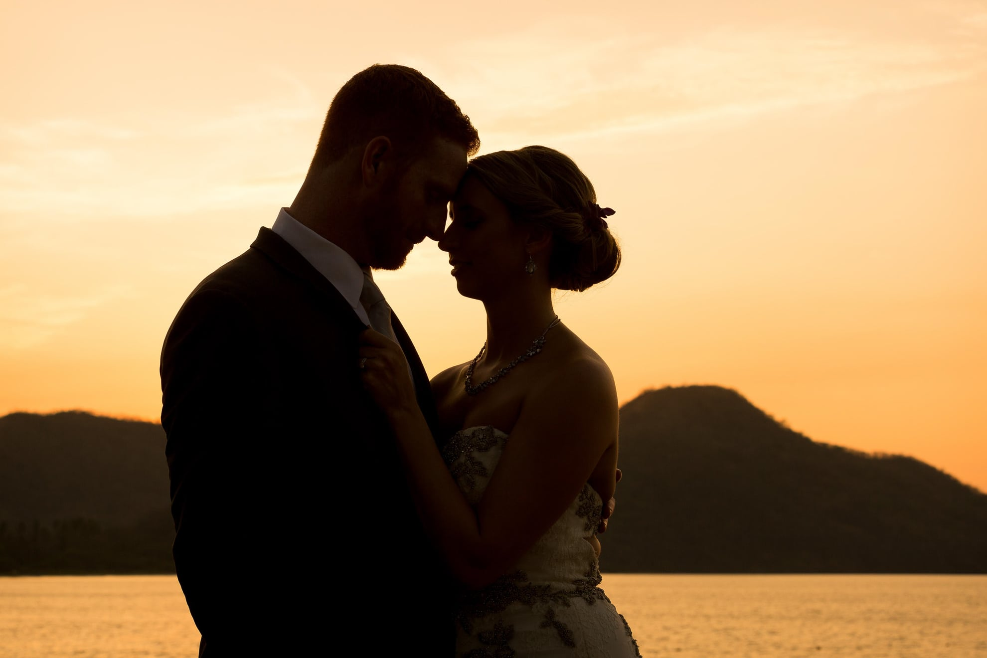 silhouette destination wedding guanacaste costa rica