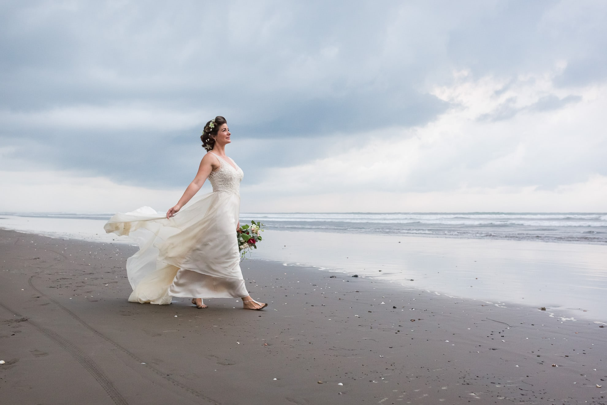Bridal portraits on one of the best Jaco beaches in Costa Rica!