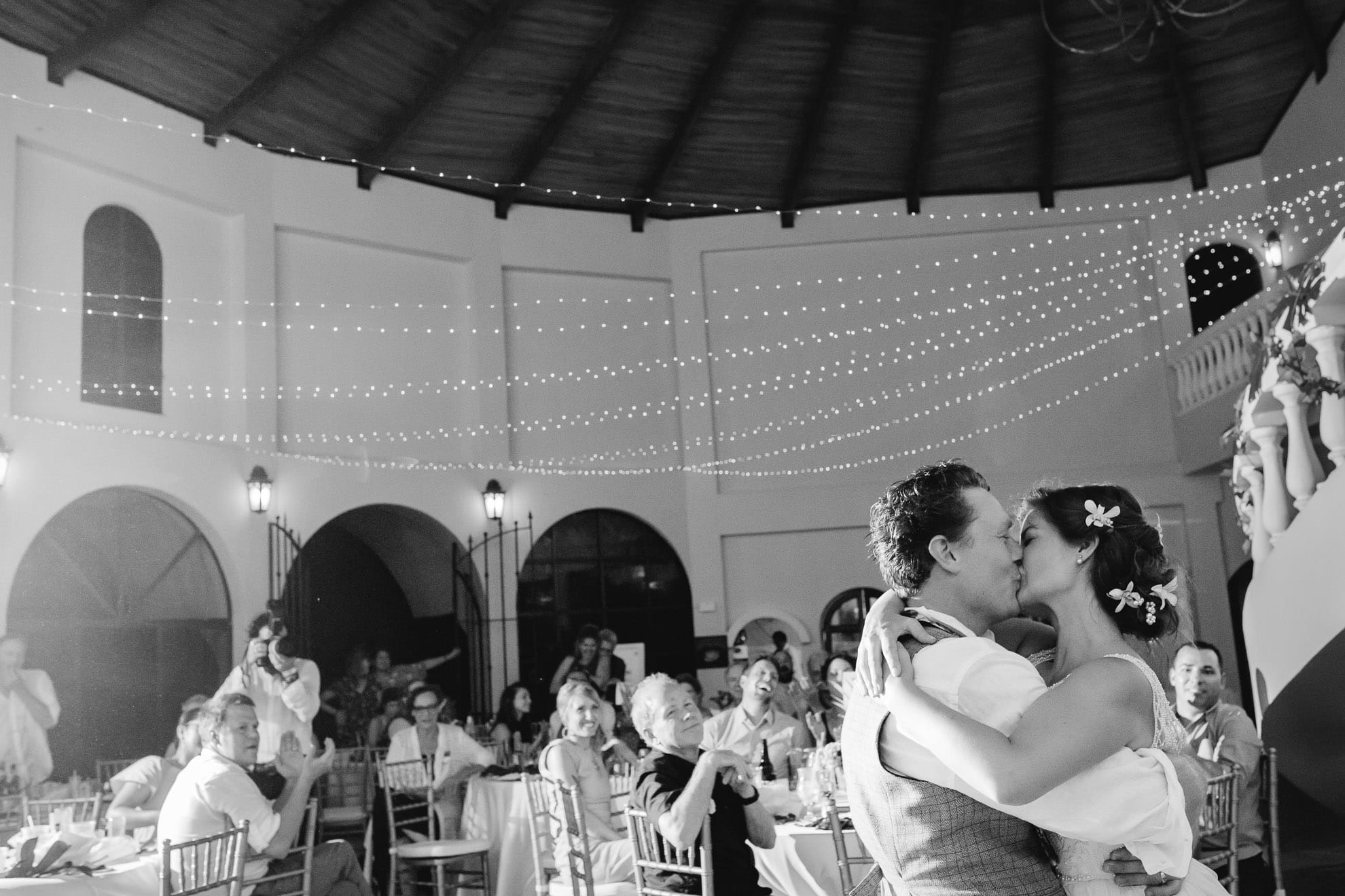 bride and groom first dance destination wedding