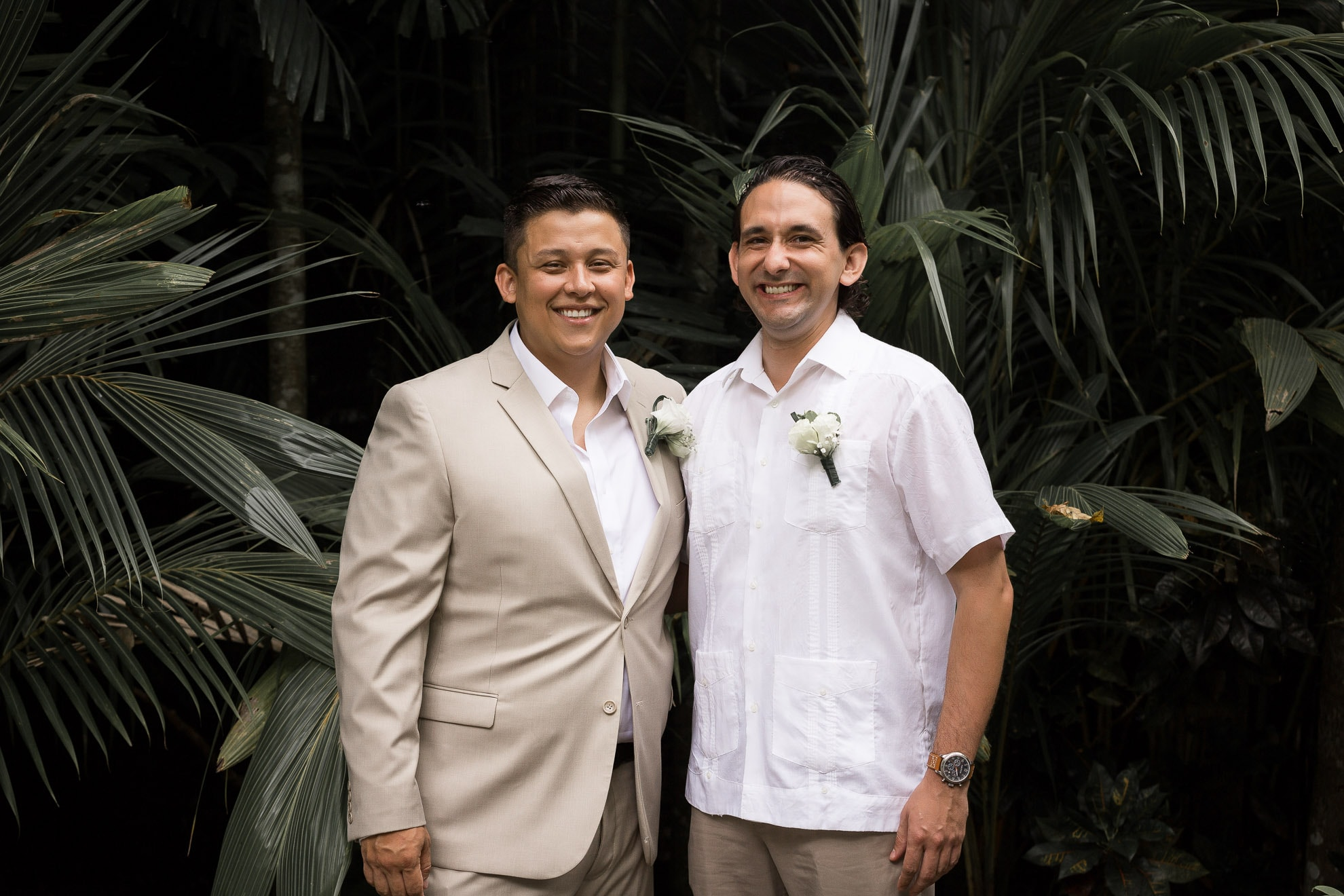 groom and best man Costa Rica Destination Wedding at Costa Verde