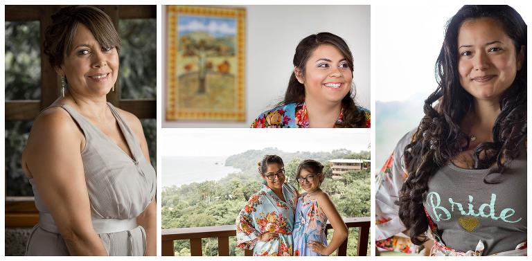 brides maids Costa Rica Destination Wedding at Costa Verde