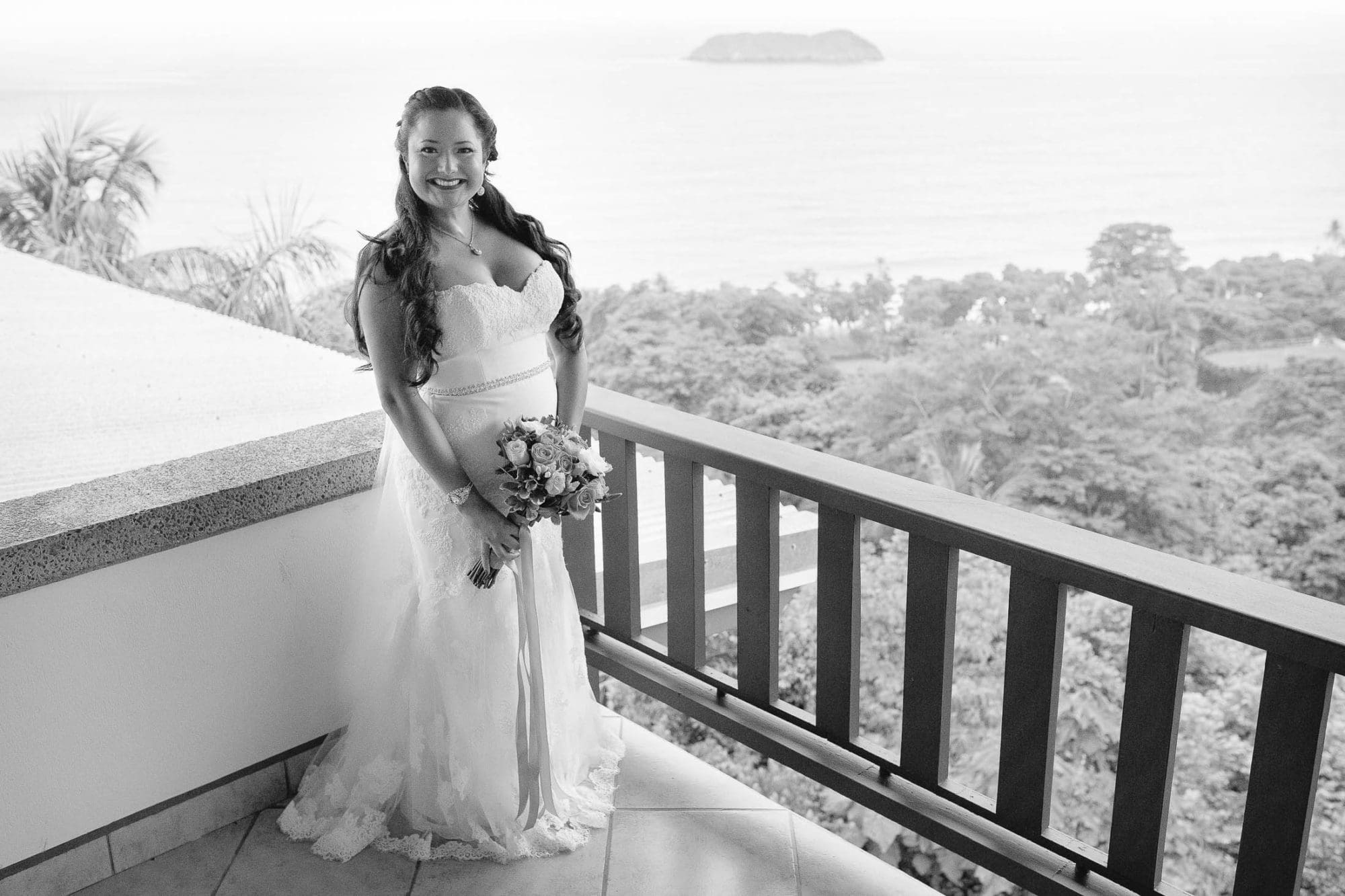bride in dress beach wedding costa verde
