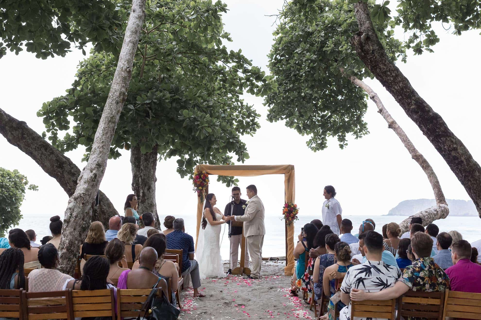 ceremony beach wedding costa verde