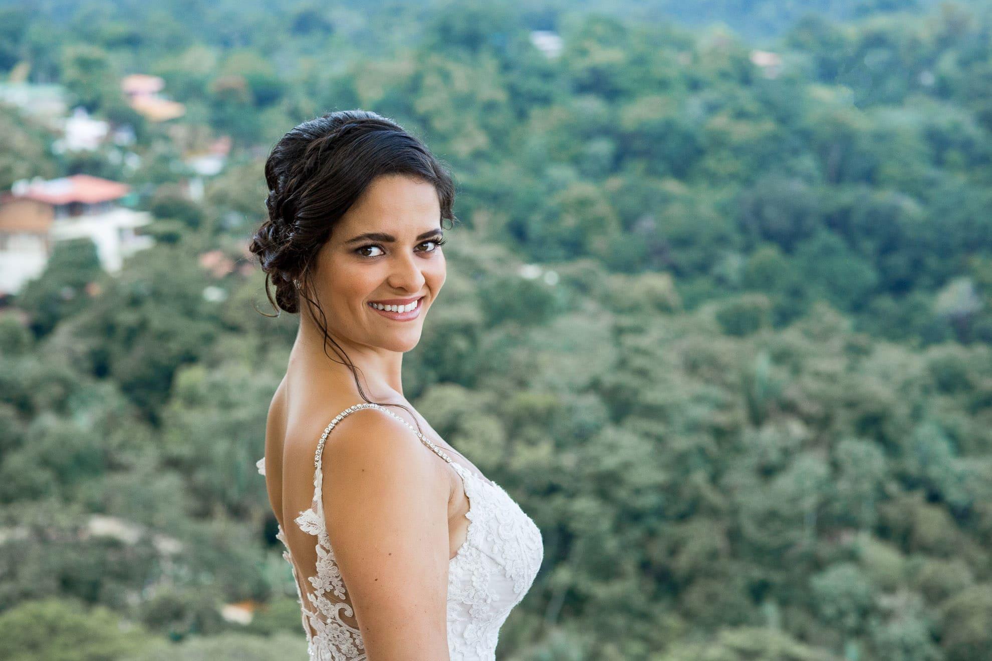 bride in her dress La Mariposa Destination Wedding