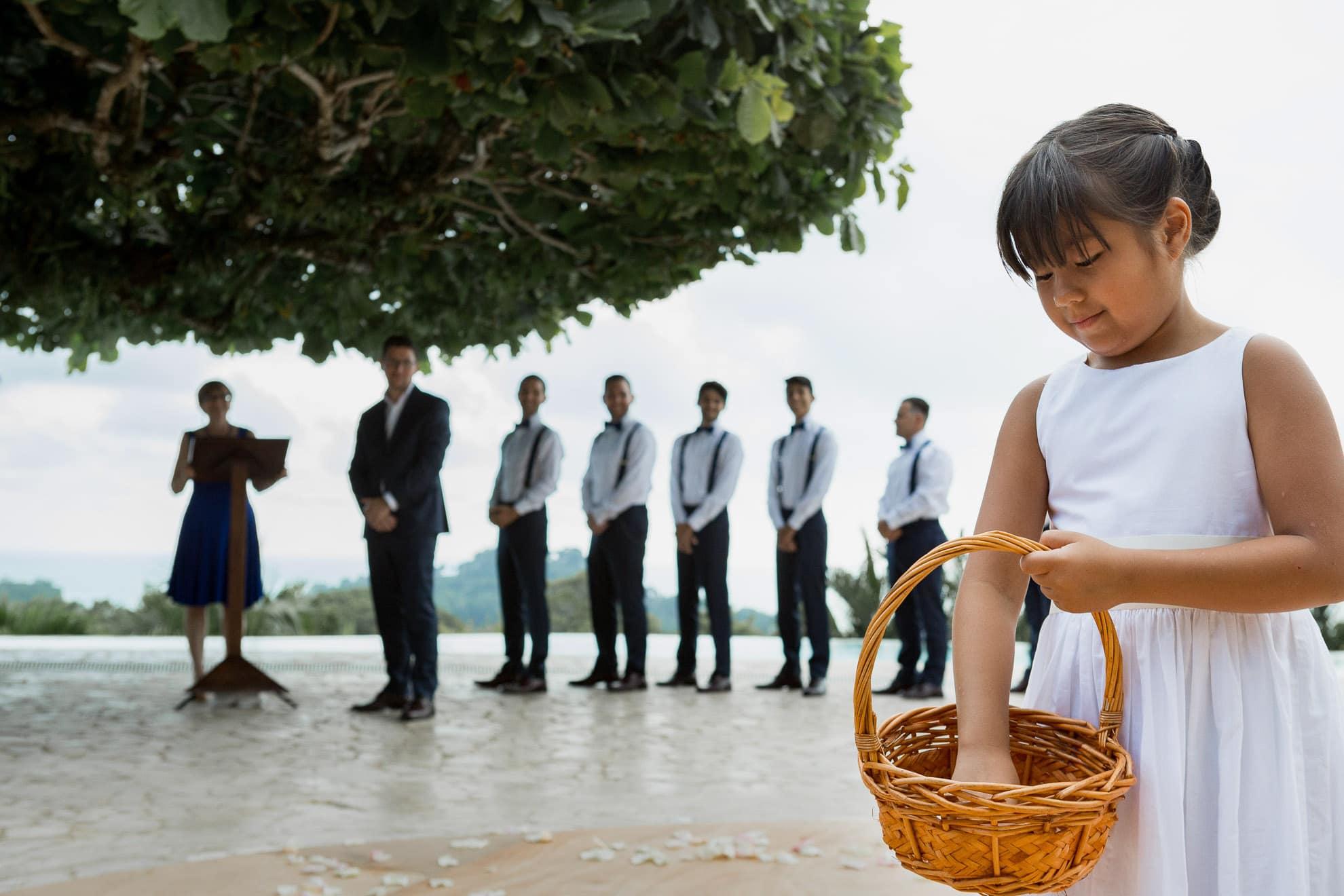 flower girl La Mariposa Destination Wedding