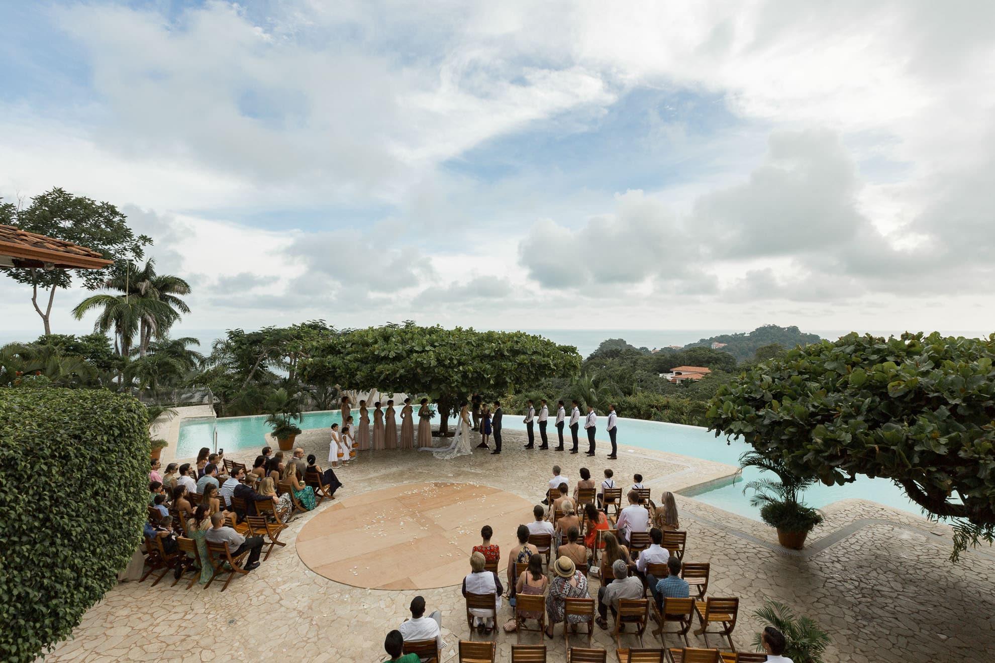 wedding ceremony La Mariposa Destination Wedding