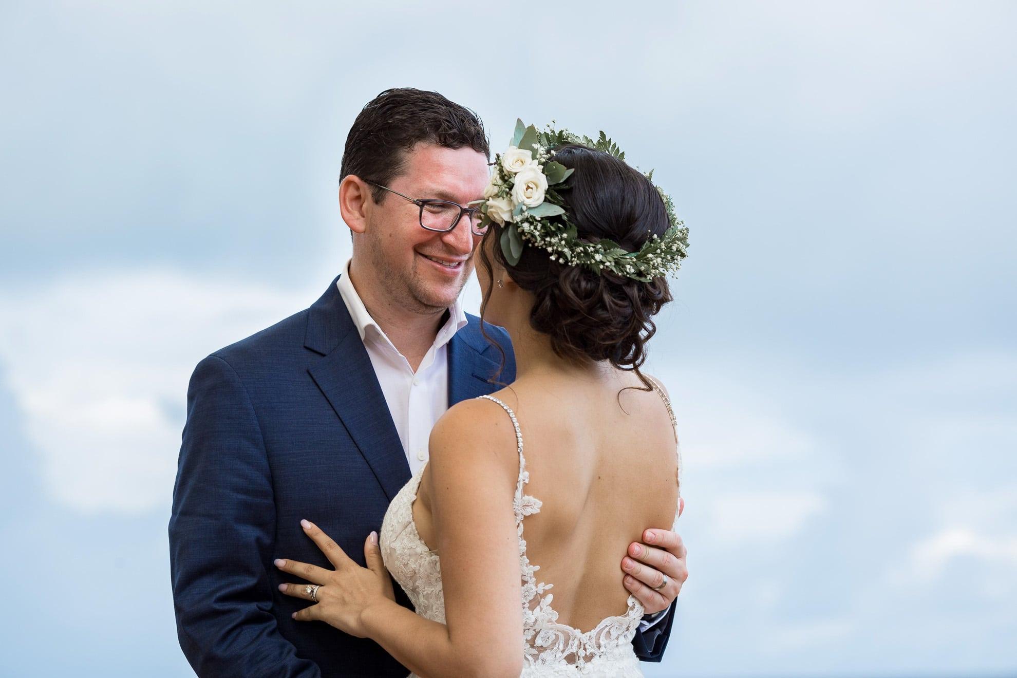 bride and groom La Mariposa Destination Wedding